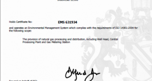 Sertifikat ISO 14001
