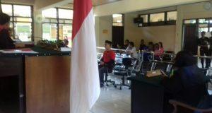 Persidangan pembacaan putusan vonis dua oknum Polri Pelaku Narkoba di PN Pinrang.