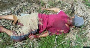Korban pemarangan, La Moha yang tewas mengenaskan di tengah areal persawahan.