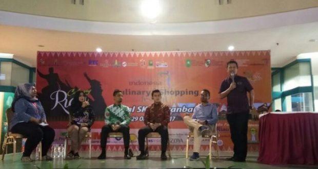 CEO PT Annur Maarif H. Bunyamin Yapid saat menjadi pemateri di salah satu acara HIPMI Pekanbaru Riau, baru-baru ini.
