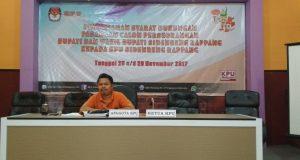 Komisioner KPU Sidrap Divisi Tehnis Alimuddin Baharuddin