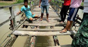 Kondisi jembatan Kading - Cempa yang menelan korban jiwa