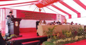 Suasana Pelantikan 26 Kades Terpilih di pelabuhan Bangsalae-Pitumpanua